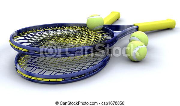 3d Tennis equipment - csp1678850