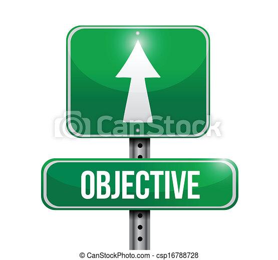 objective road sign illustration design - csp16788728