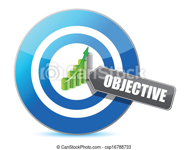 target successful objective illustration design - csp16788733