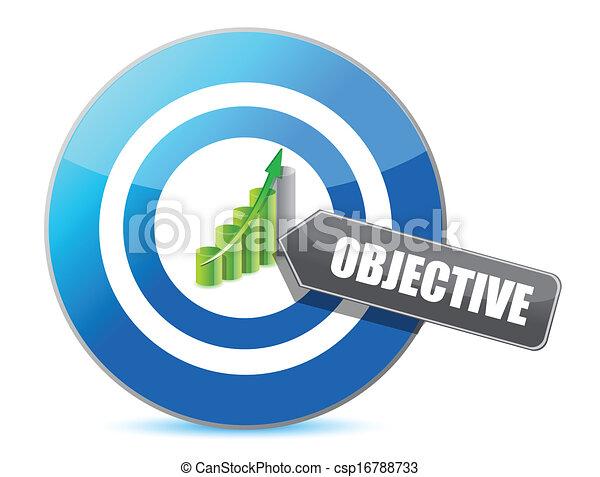 target successful objective illustration design - csp16788733