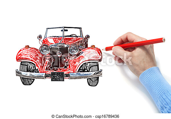 Drawing of the automobile - csp16789436