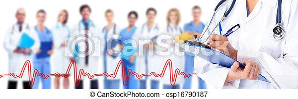 médico, doutor, mãos - csp16790187