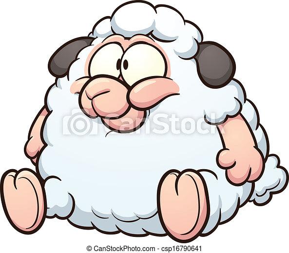 Vecteur eps de mouton dessin anim graisse graisse - Mouton dessin anime ...