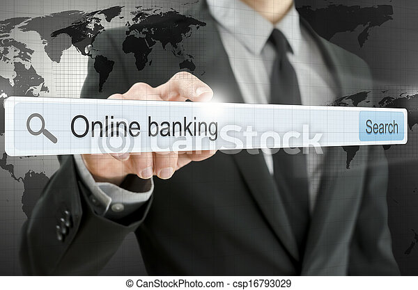 Online banking written in search bar - csp16793029