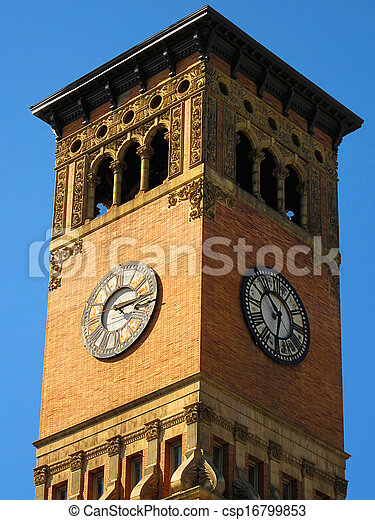 Government Building Clock Tower - csp16799853