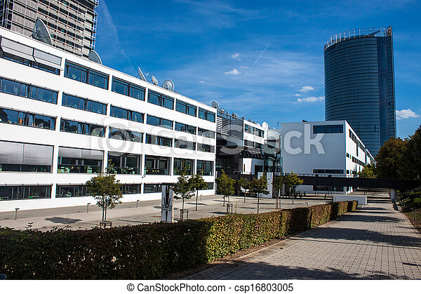 Former government building (Bundeshaus) in Bonn, Germany - csp16803005