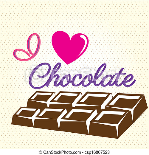 Vector Illustration of i love chocolate - i love chocolate ...
