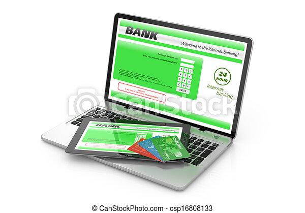 Internet banking service. - csp16808133
