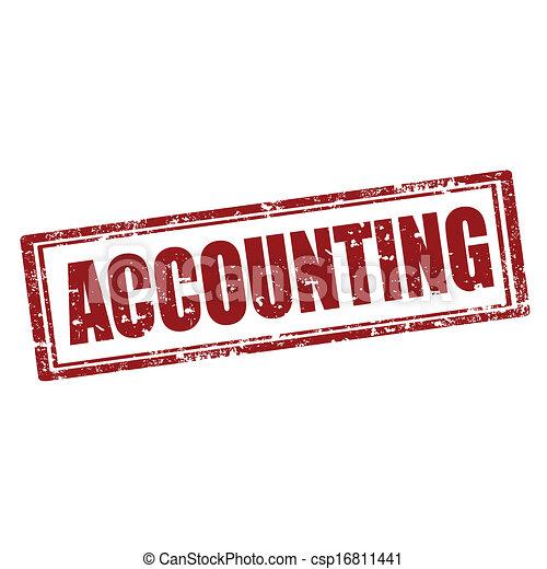 Accounting-stamp - csp16811441