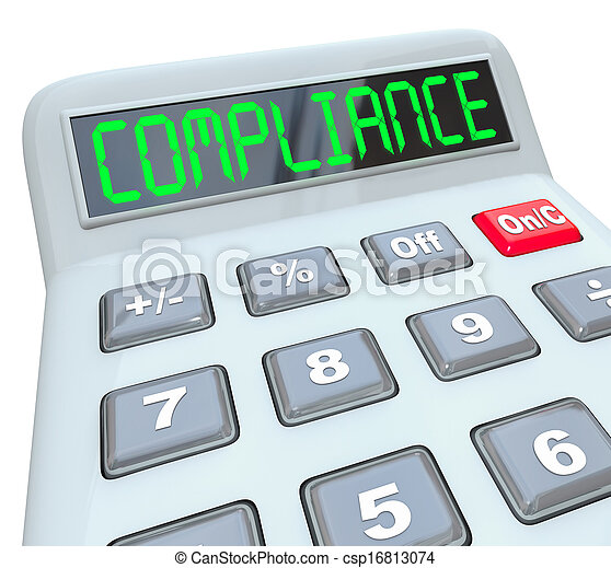 Compliance Word Calcualtor Accounting Financial Audit - csp16813074