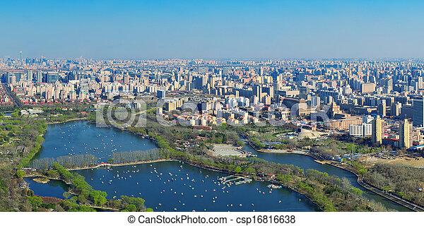 Beijing aerial view - csp16816638
