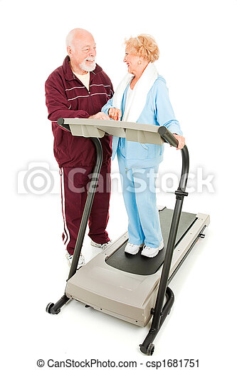 Seniors Flirting at the Gym - csp1681751