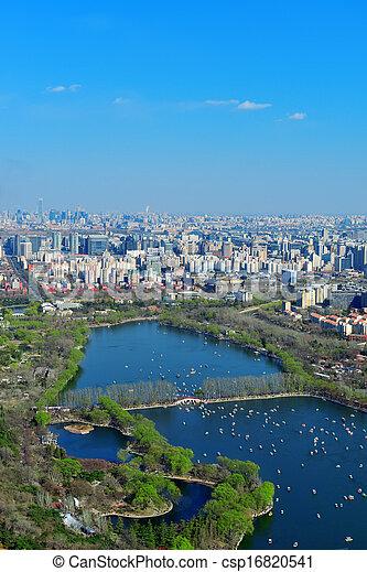 Beijing aerial view - csp16820541