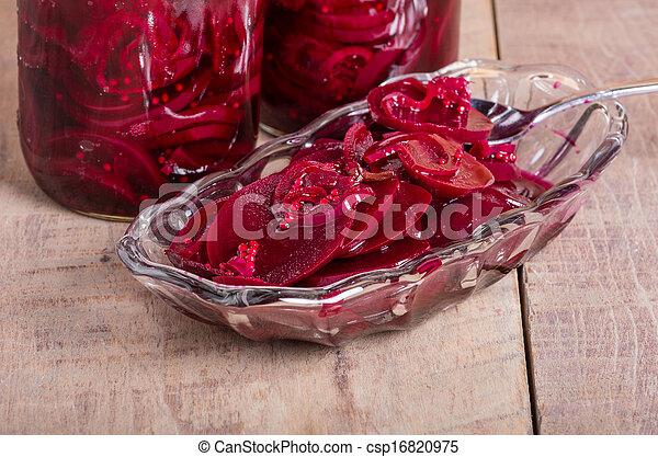 image de conserv vinaigre betteraves pots bol rouges csp16820975 recherchez des. Black Bedroom Furniture Sets. Home Design Ideas