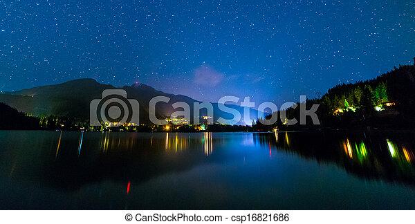 Alta Lake in Whistler at Night - csp16821686