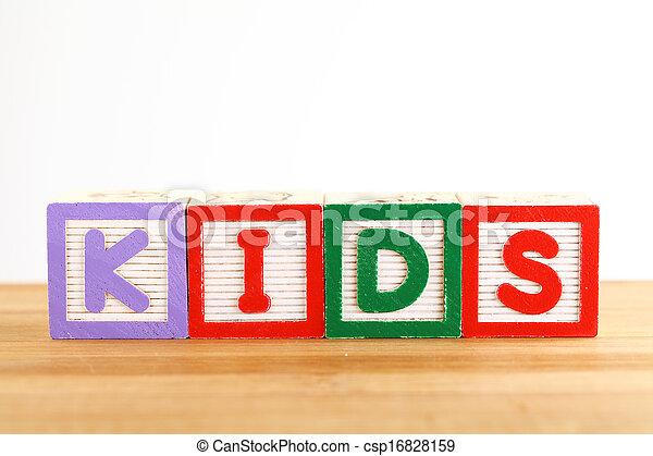 KIDS wooden toy block - csp16828159
