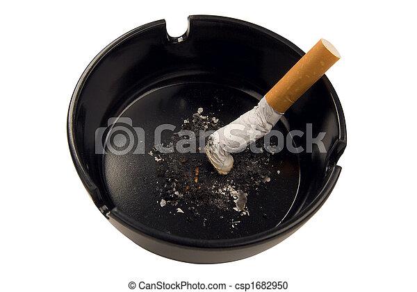 cigarette butt in ashtray - csp1682950