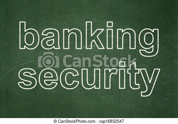 Privacy concept: Banking Security on chalkboard background - csp16832547