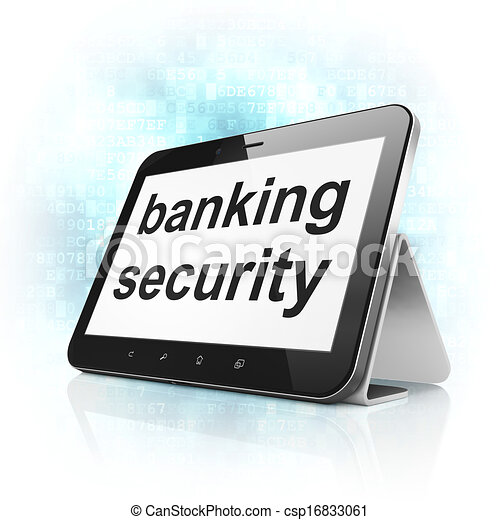 Safety concept: Banking Security on tablet pc computer - csp16833061