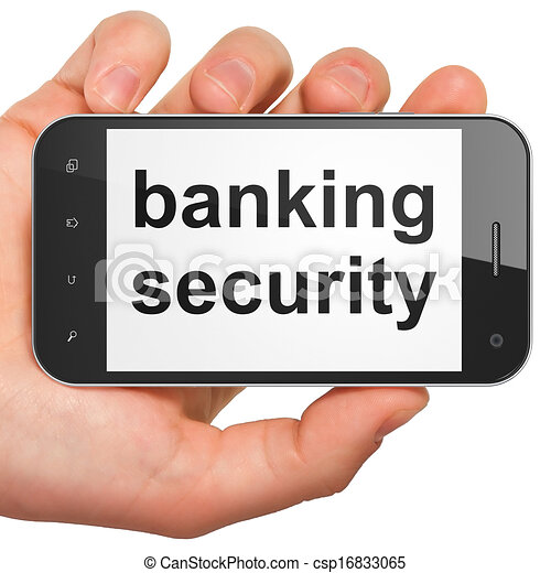 Security concept: Banking Security on smartphone - csp16833065