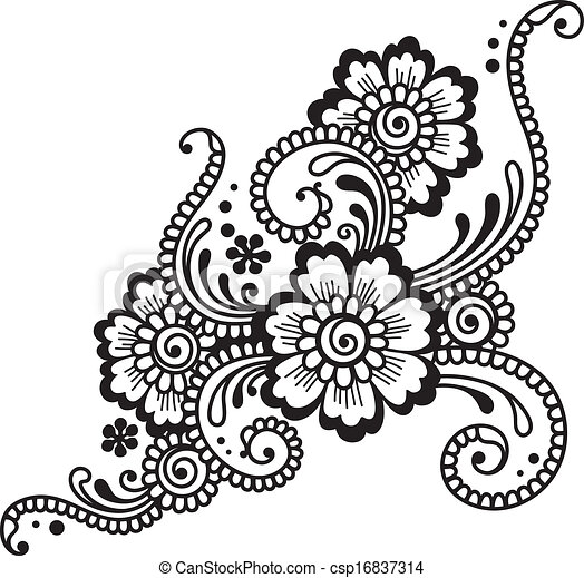 Vector Clip Art of Flower ornament csp16837314 - Search Clipart ...: www.canstockphoto.com/flower-ornament-16837314.html