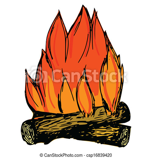 illustration vecteur de feu camp illustration main dessin dessin anim csp16839420. Black Bedroom Furniture Sets. Home Design Ideas