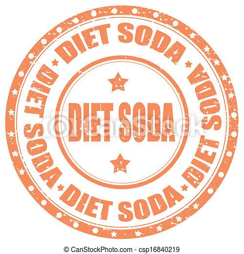 Vector Clip Art of Diet Soda-stamp - Grunge rubber stamp ...