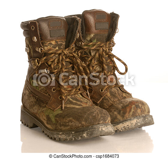 Stock Photos of hunting boots - camouflage hunting boots ...