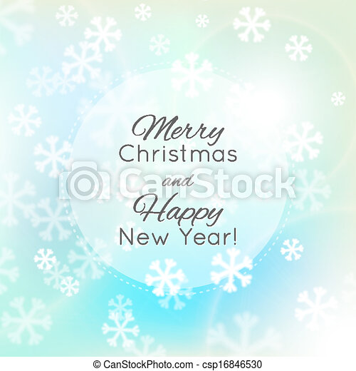 Christmas background, snowflakes and soft colors - csp16846530