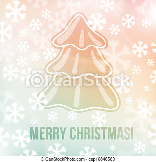 Christmas background, snowflakes and soft colors - csp16846563