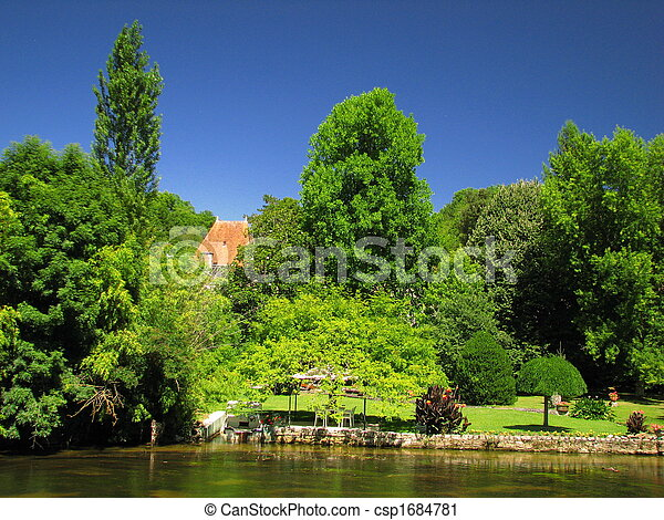 Village and River of Brantome - csp1684781