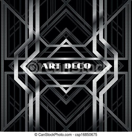 art deco grille - csp16850675