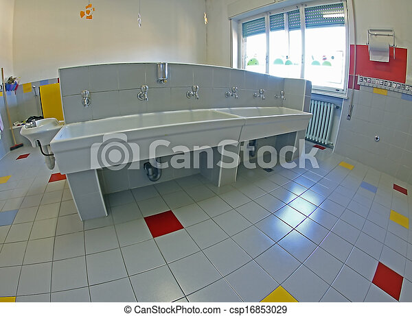 sinks for cleaning of infants in a nursery