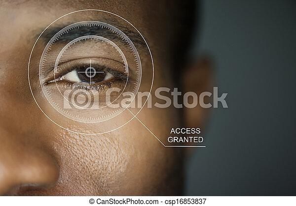 sicurezza, scansione - csp16853837
