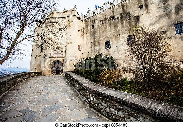 Niedzica Castle at Czorsztyn Lake in Poland  - csp16854485