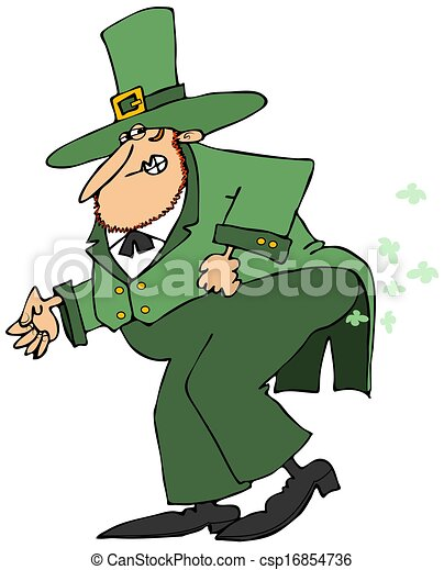 Leprechaun passing gas - csp16854736