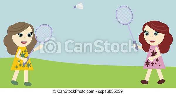 Badminton Players Girls Nice Girls Playing Badminton