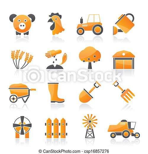 Agriculture and farming icons - csp16857276