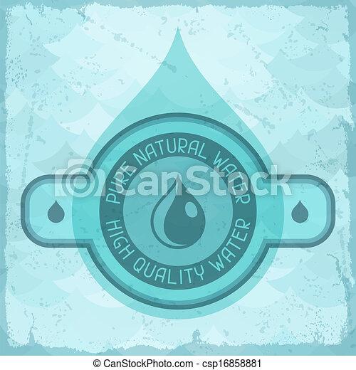 Vector de natural agua pura retro plano de fondo style  Pure