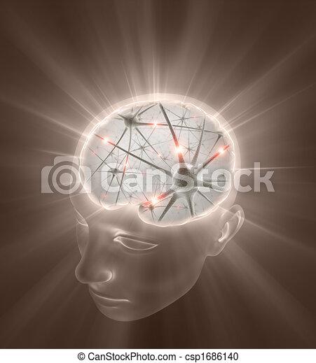 Neurons Head - csp1686140
