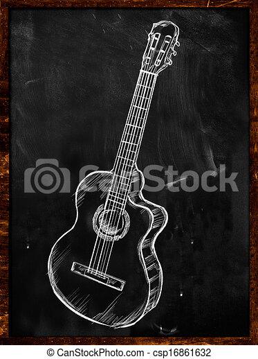 dessins de guitare classique acoustique dessin sur. Black Bedroom Furniture Sets. Home Design Ideas