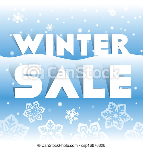 Winter sale poster, vector illustration - csp16870828