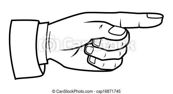 how to draw someone pointing