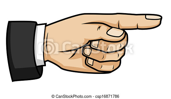 Pointing finger Vector Clipart Royalty Free. 17,437 Pointing ...