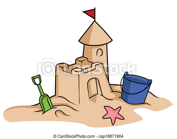 Clip Art Sandcastle Clipart sand castle clipart vector graphics 871 eps clip art clipartby