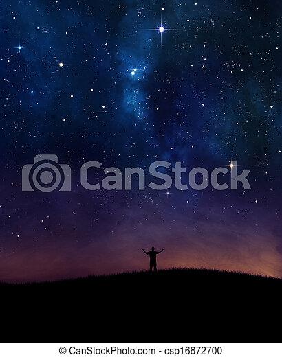 Night sky praise - csp16872700