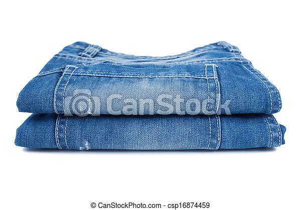 Close-up of blue jeans - csp16874459