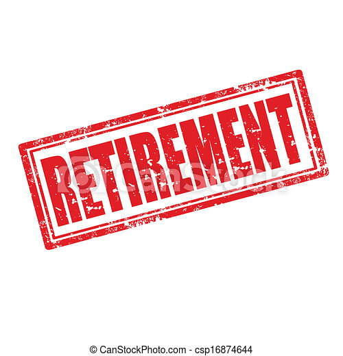Vector Clipart of Retirement stamp - Retirement grunge rubber ...