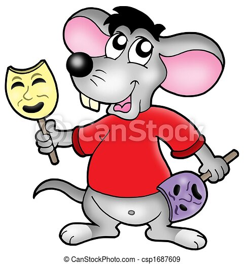 Caroon mouse actor - csp1687609