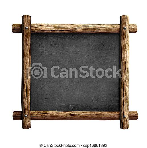 banque de photographies de vieux bois tableau noir cadre isol tableau ou csp16881392. Black Bedroom Furniture Sets. Home Design Ideas